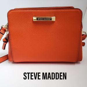 Steve Madden Orange Polyurethane Crossbody Purse